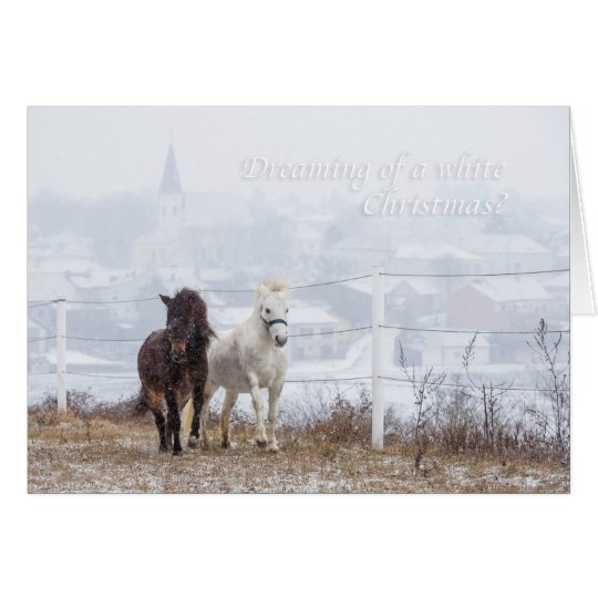 Dreaming of a white Christmas? Card