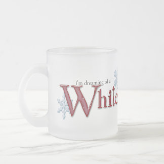 Dreaming of a White Christmas Frosted Glass Mug