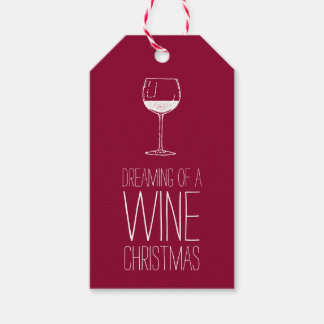 Dreaming of a Wine Christmas | Red & White Holiday Gift Tags