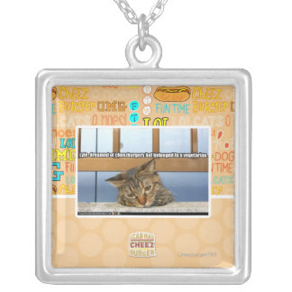 Dreaming of Cheesburgers Silver Plated Necklace