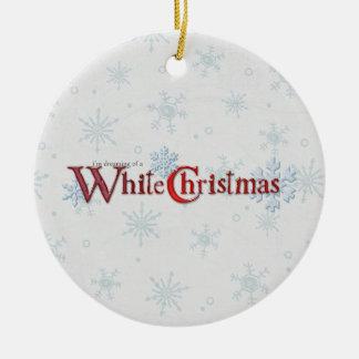Dreaming of Christmas Snow Christmas Ornament