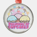 dreaming of cupcakes christmas ornament