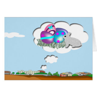 Dreaming of Easter Eggs Greeting Card
