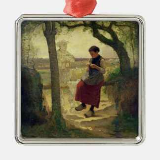 Dreaming of her Love, 1901 Christmas Ornament