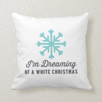 Dreaming of White Christmas | Blue Christmas Cushion