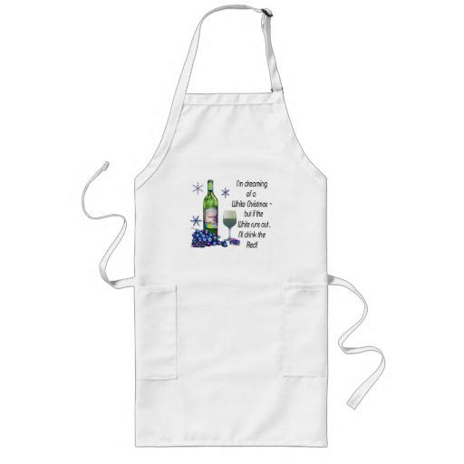 Dreaming of White Christmas, Funny Wine Art Gifts Apron