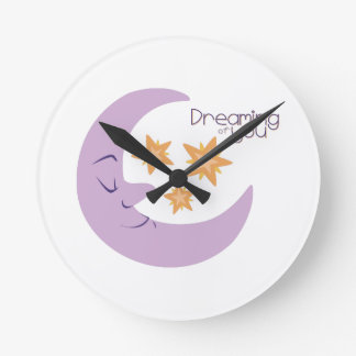 Dreaming Of You Round Wall Clocks