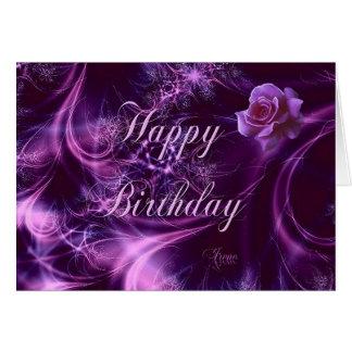 Dreaming Rose Birthday Card