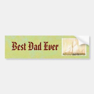 Dreaming Sails Father's Day custom Bumper Sticker
