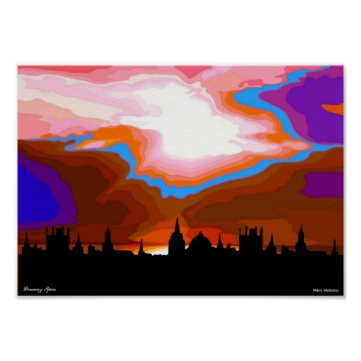 Dreaming Spires of Oxford Poster