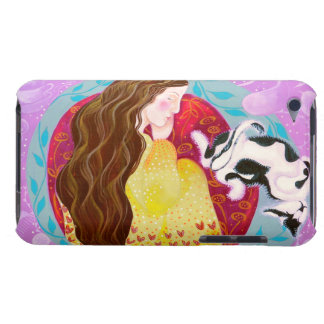 Dreaming Woman and Cat. iPod Touch Case