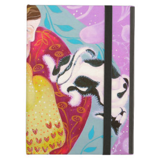 Dreaming Woman and Cat. Cover For iPad Air