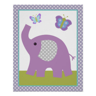 Dreamland Elephant Poster Nursery Art Print 2 of 4