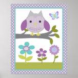 Dreamland Owl Poster Nursery Art Print 3 of 4