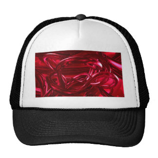 DREAMLAND RED ABSTRACT WALLPAPER BACKGROUNDS RANDO TRUCKER HAT
