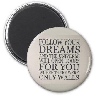 dreams 6 cm round magnet