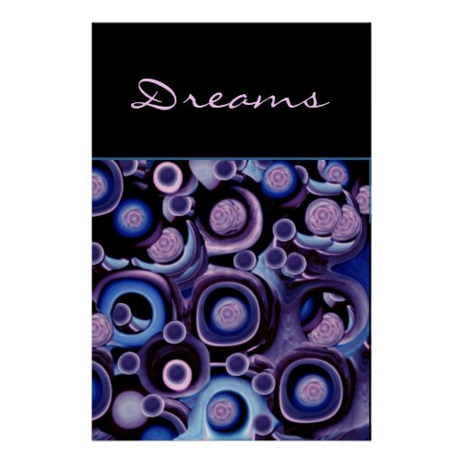 Dreams - Abstract Purple and Blue Poster