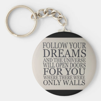 dreams basic round button key ring