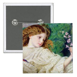 Dreams, c.1861 (w/c, bodycolour and gum over graph 15 cm square badge