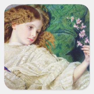 Dreams, c.1861 (w/c, bodycolour and gum over graph square sticker