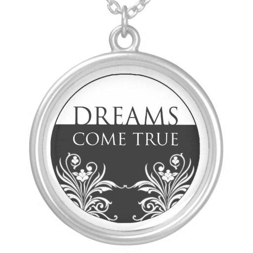 Dreams Come True - 3 Word Quote Necklace