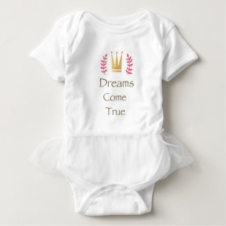 Dreams Come True Tutu Baby Bodysuit