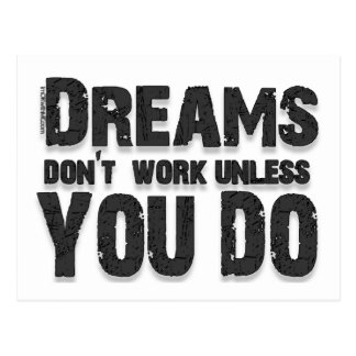Dreams Don't Work Postcard