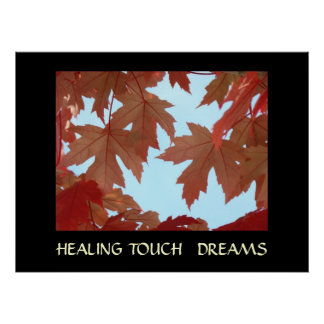 DREAMS HEALING TOUCH ART GIFTS Autumn Leaves Art Posters