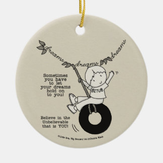 Dreams Hold You Christmas Ornament