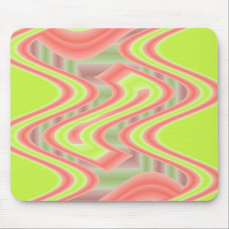 dreams lime green orange mouse pad