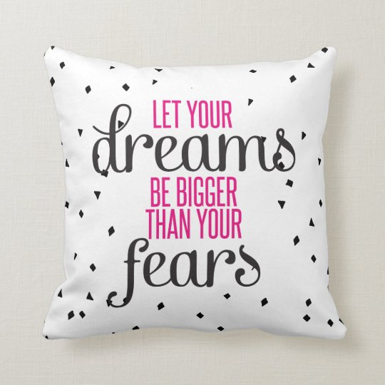 Dreams Motivational Quote Cushion