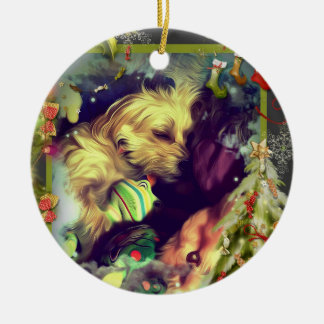 Dreams of Christmas Toyland Round Ornament