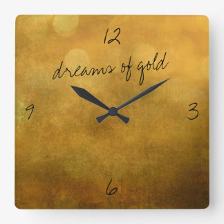 dreams of gold wall clock
