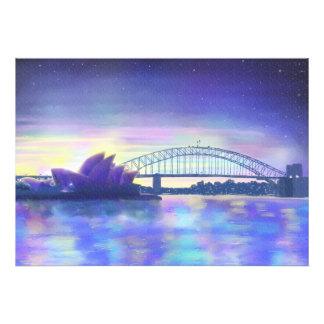 Dreams of Sydney Harbour purple sunset art Photograph
