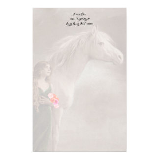 Dreams White Stallion Horse Stationery Note paper