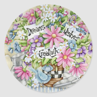 Dreams Wishes And Creativity Classic Round Sticker