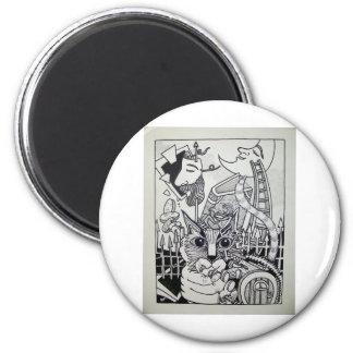 Dreamscape 10-1 by Piliero 6 Cm Round Magnet