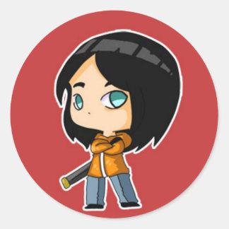 dreamscape jun round sticker