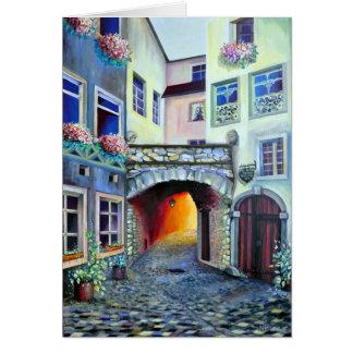Dreamscape Luxembourg bohemian city Card