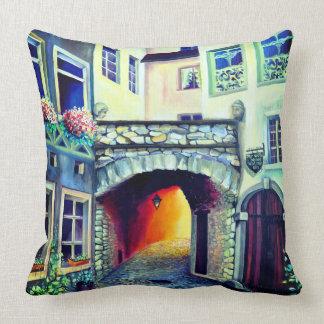 Dreamscape Luxembourg bohemian city Cushion