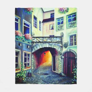 Dreamscape Luxembourg bohemian city Fleece Blanket