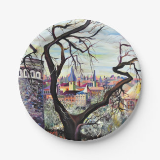 Dreamscape Luxembourg bohemian city Paper Plate