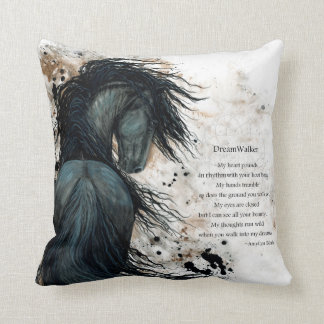DreamWalker Horse Pillow Art Print by Bihrle