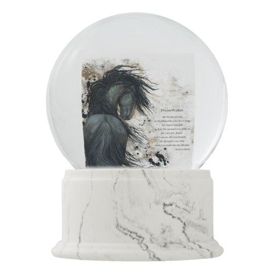 DreamWalker Horse SnowGlobe With Poem by Bihrle