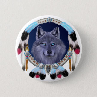 DREAMWOLF 6 CM ROUND BADGE