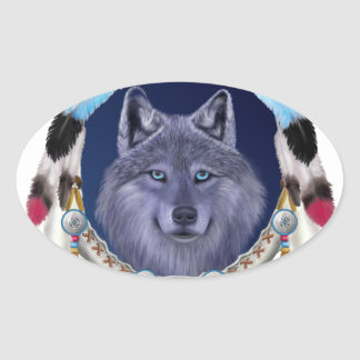DREAMWOLF OVAL STICKER