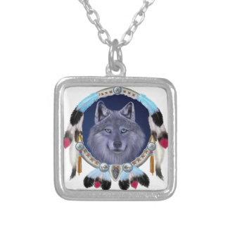 DREAMWOLF SILVER PLATED NECKLACE