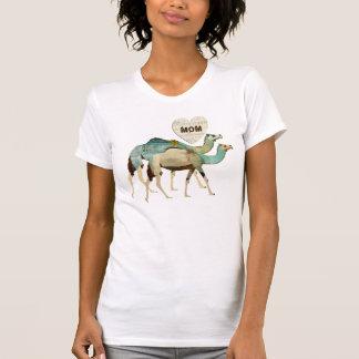 Dreamy Blue Camels Mom T-shirt