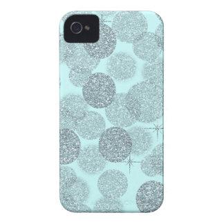Dreamy Blue Glitter iPhone 4 Case-Mate Cases