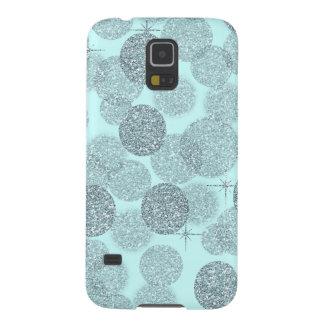 Dreamy Blue Glitter Galaxy S5 Cover